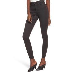 🎁 Topshop Jamie Coated High Waist Skinny Jeans
